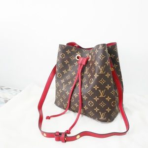 Louis Vuitton neonoe red monogram